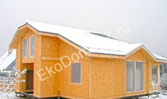 зимнее строительство дома
