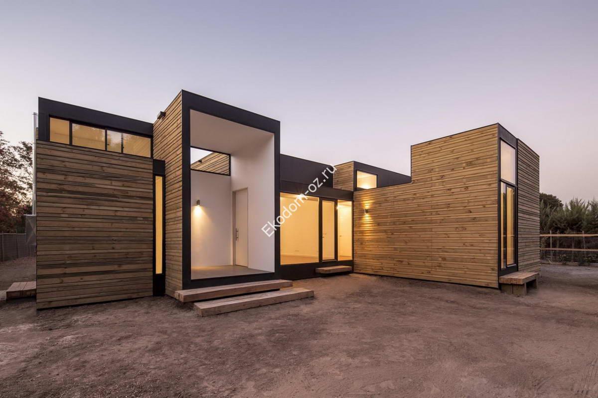 Богатство архитектурных решений домов из СИП панелей