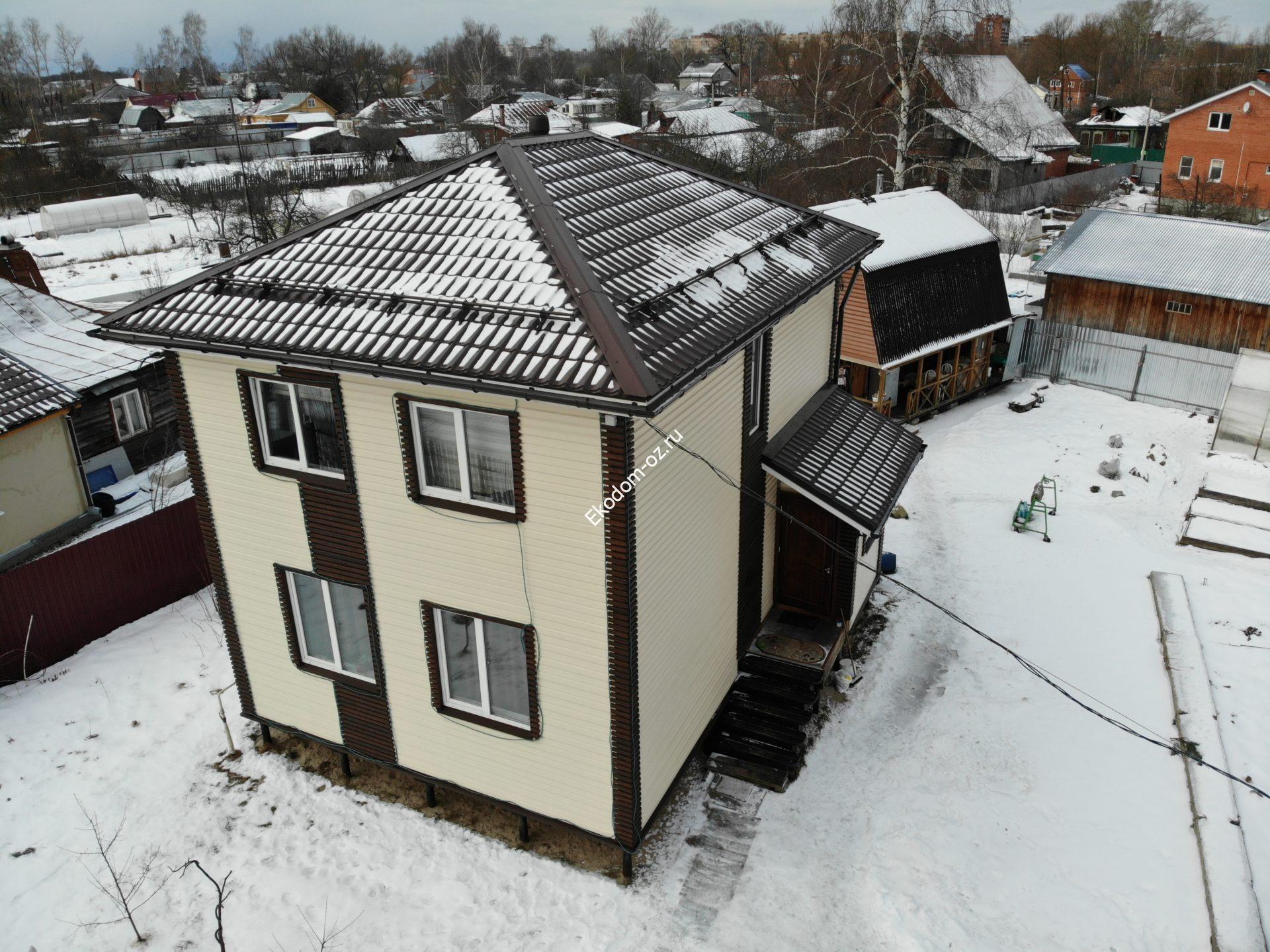 готовый дом из сип панелей 1